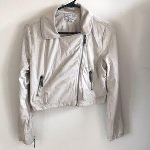 Suede look cropped jacket